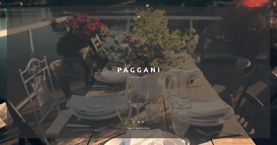 Paggani - Nice and Best Looking WordPress Responsive Theme for Restaurant Websites