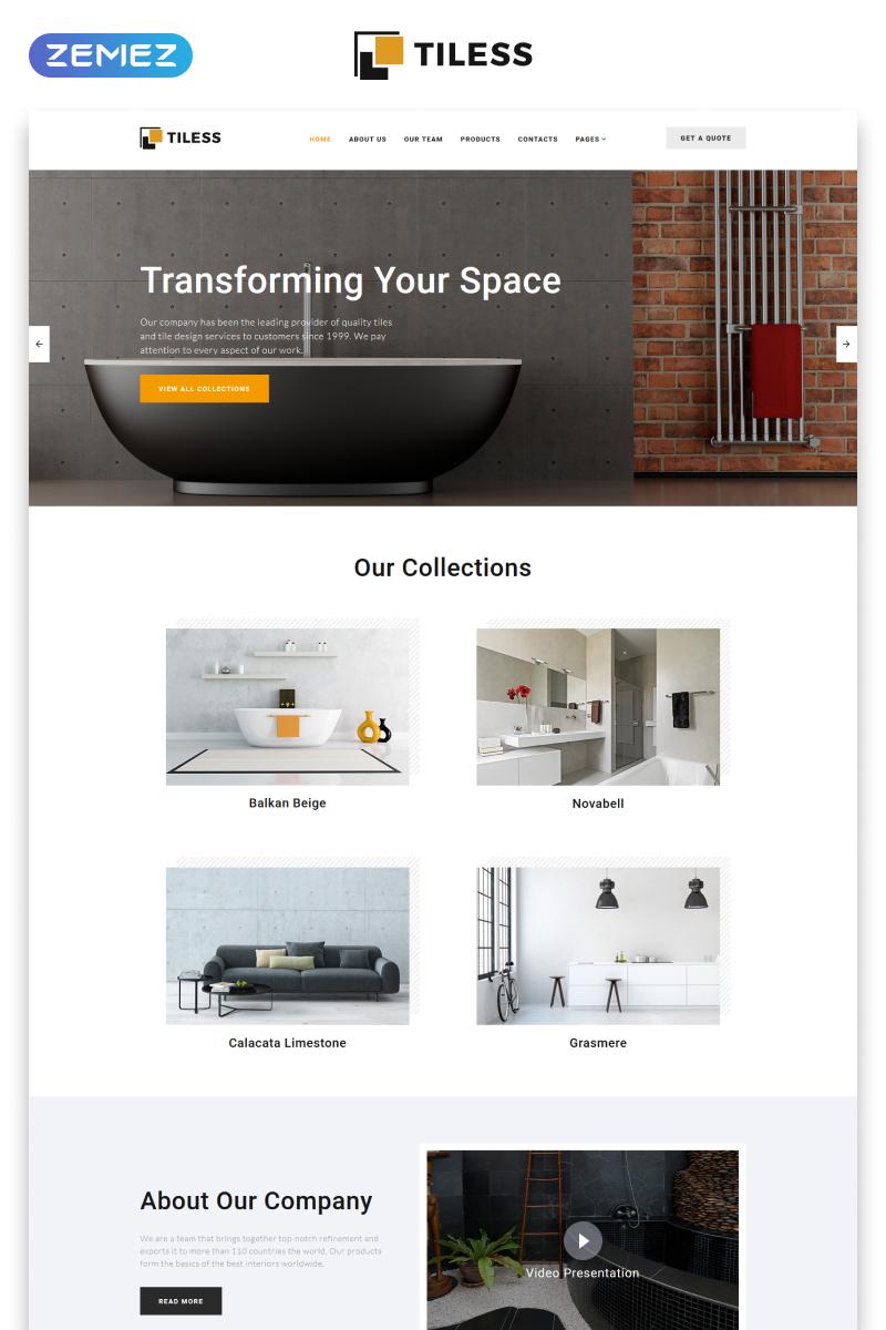 modello siti web per un sito di design di interni