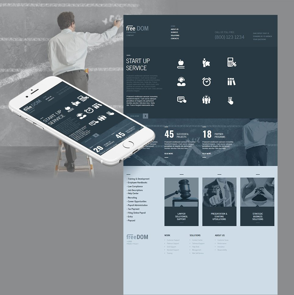 Consulting business site template