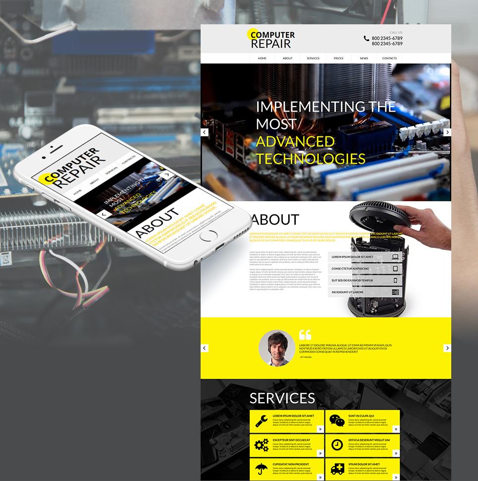MotoCMS HTML Szablon #55321 z kategorii Komputery - image