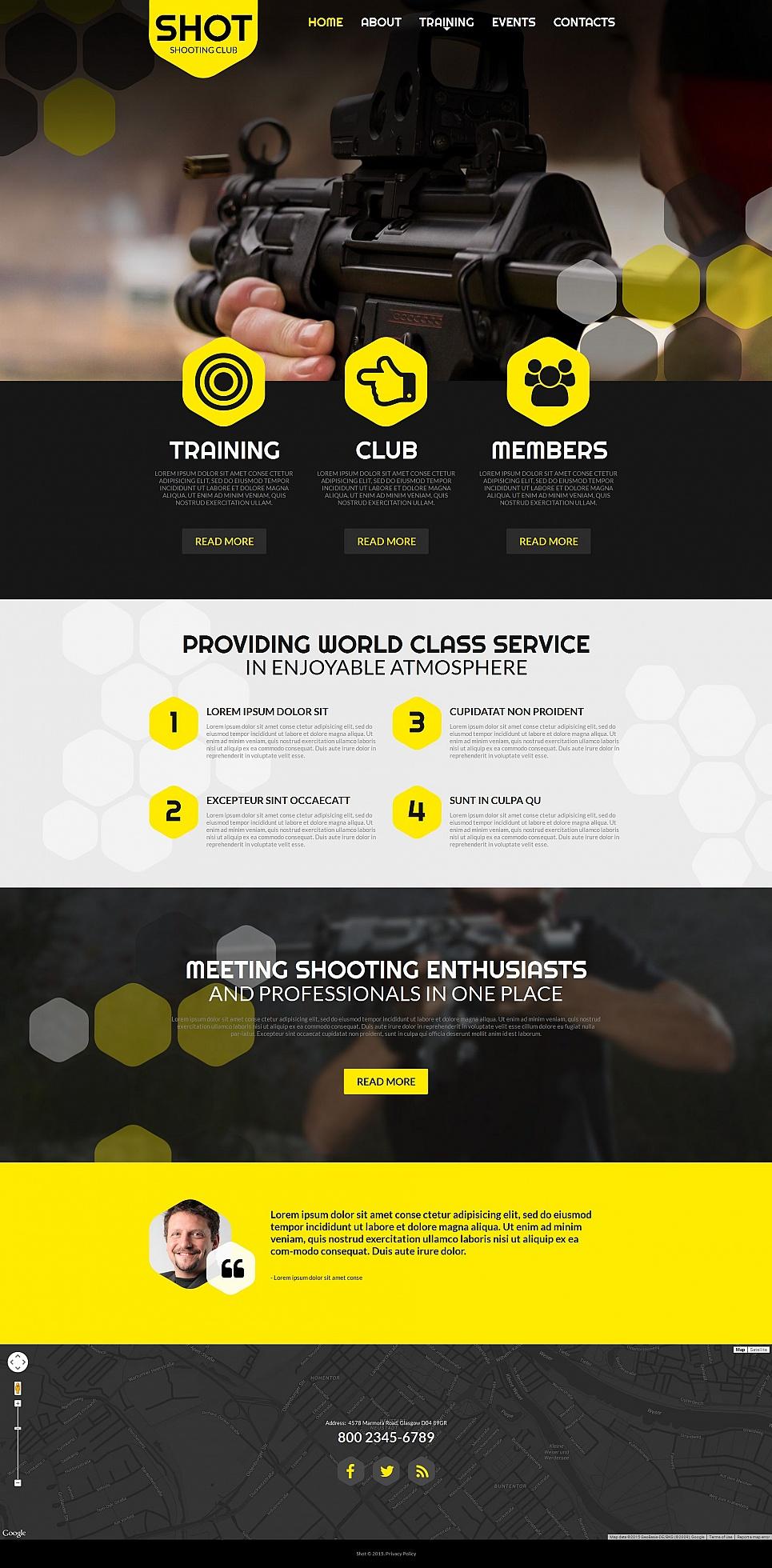 MotoCMS HTML Шаблон #55322 из категории Спорт - image