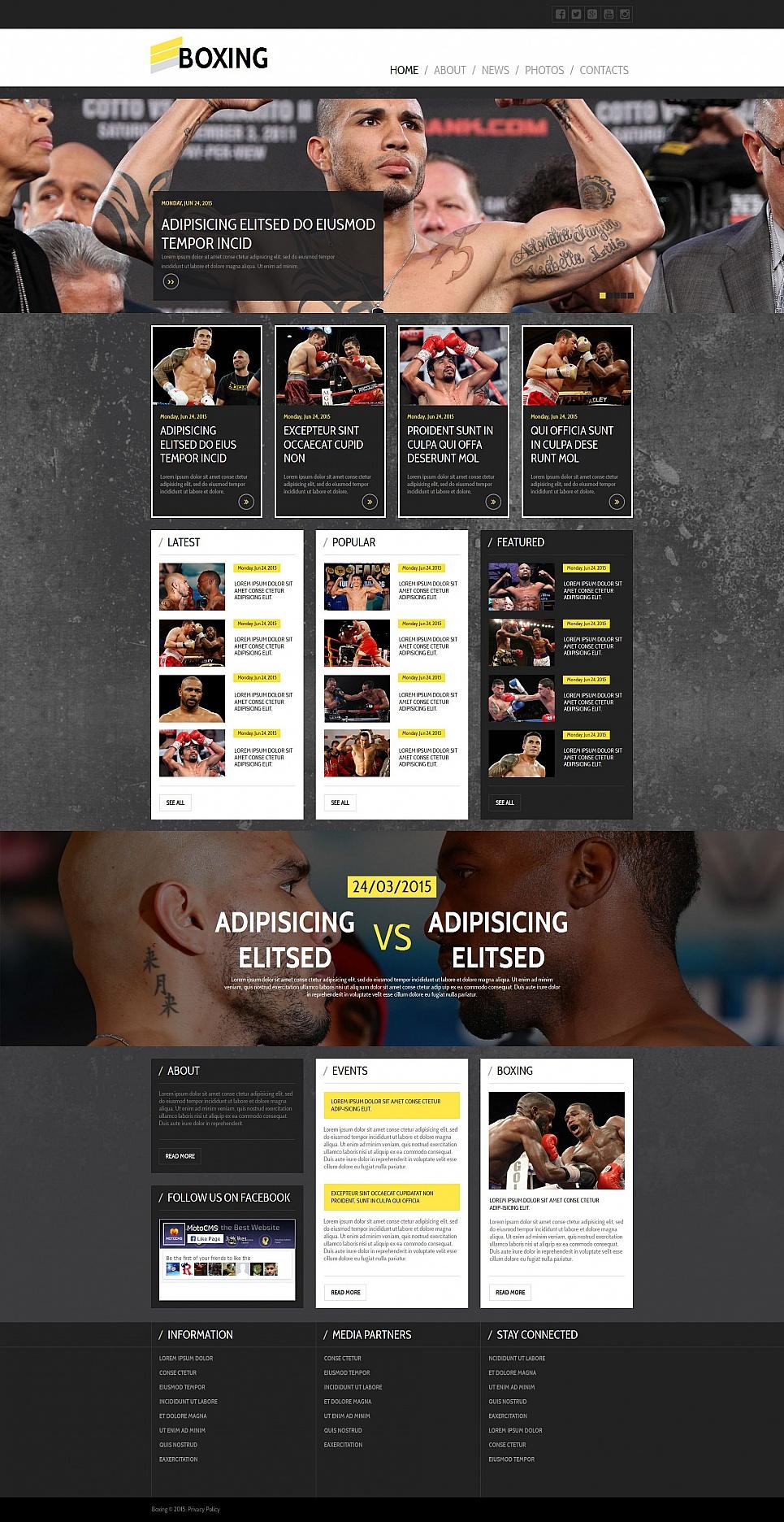 MotoCMS HTML Vorlage #55325 aus der Kategorie Sport - image