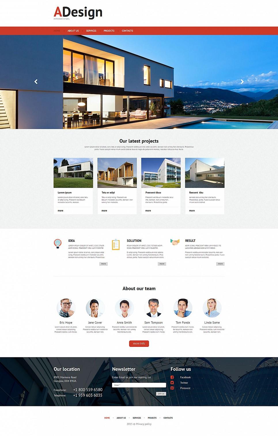 Tema de sitio web de diseño arquitectónico - image