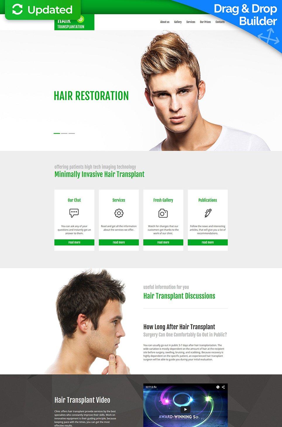 Motyw dla strony kliniki włosów
