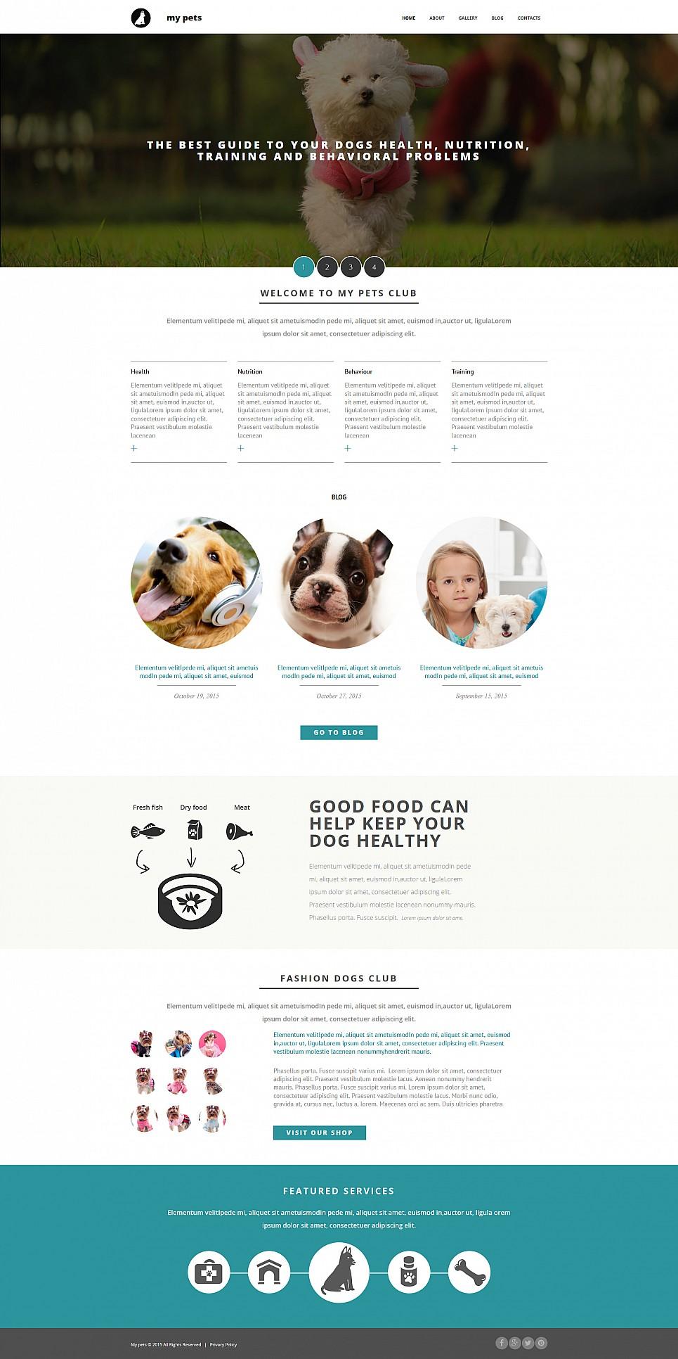 Diseño de sitio web de un club de mascotas - image