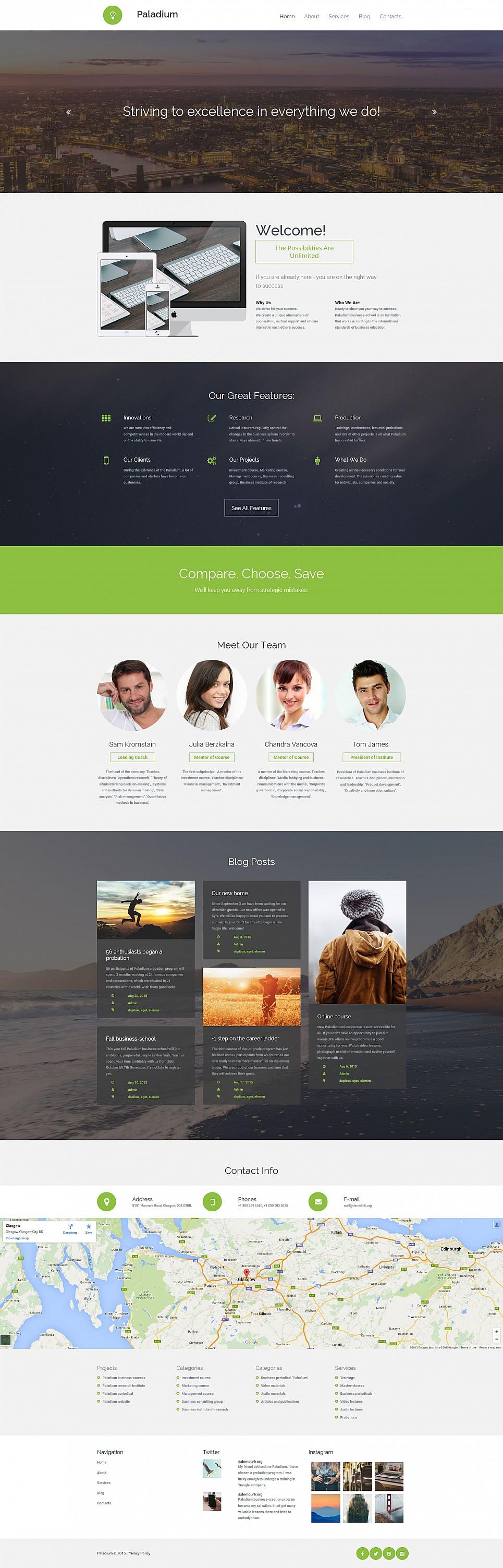 Original corporate site design