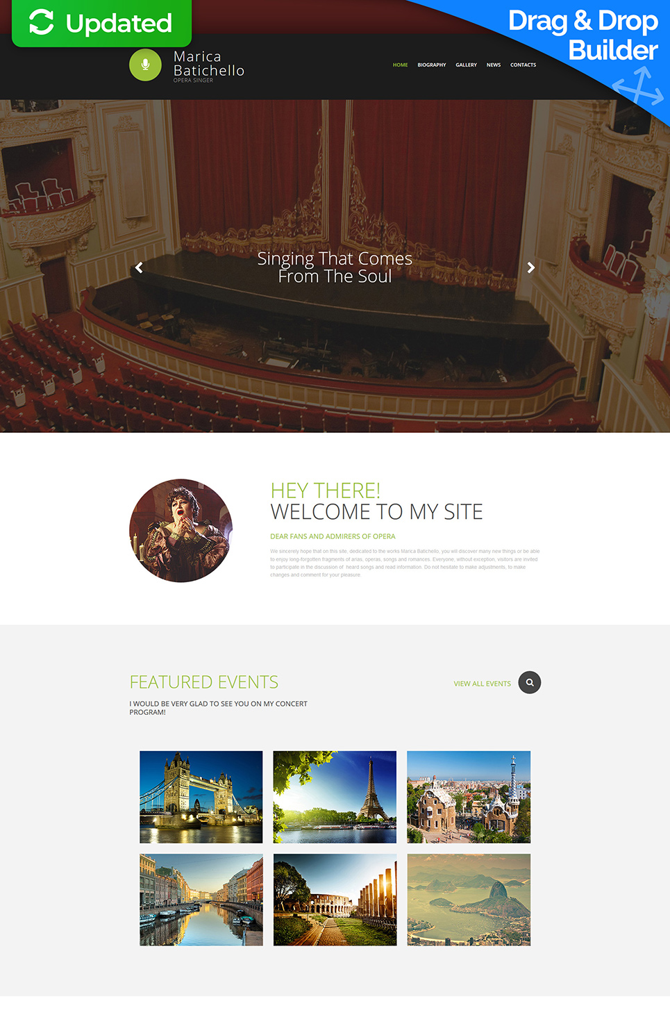 Webseiten-Vorlage für Musicaldarsteller