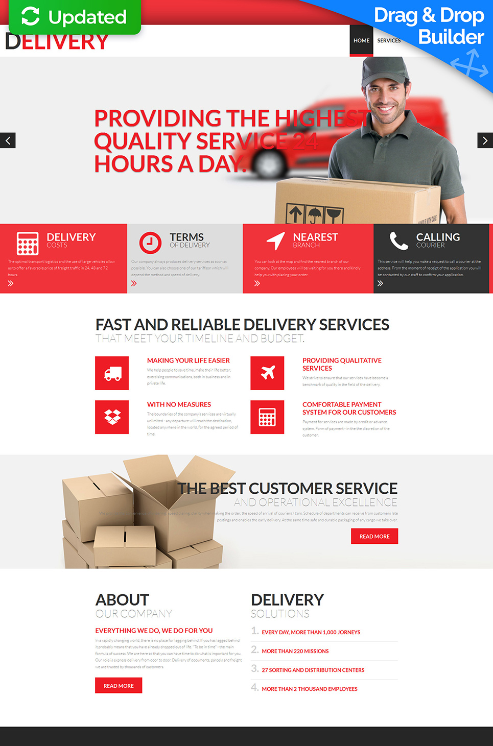 Courier service website template