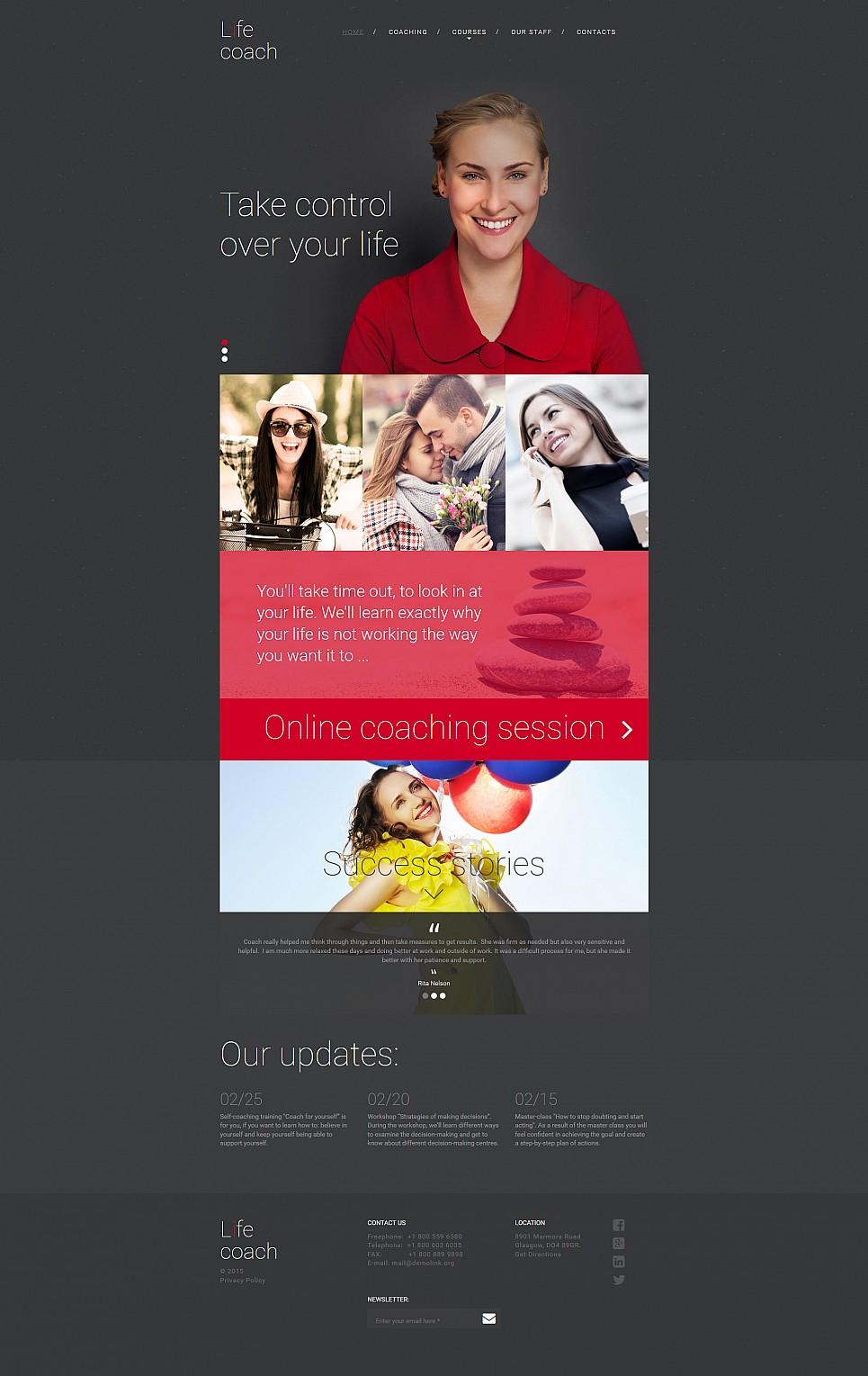 Plantilla de sitio web de cursos de vida - image