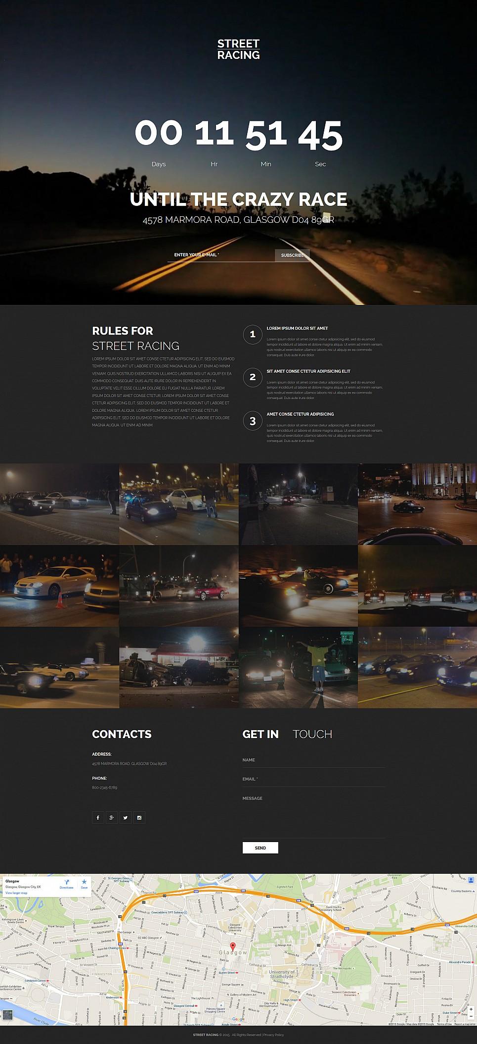 Dunkles Design für Motorrennen