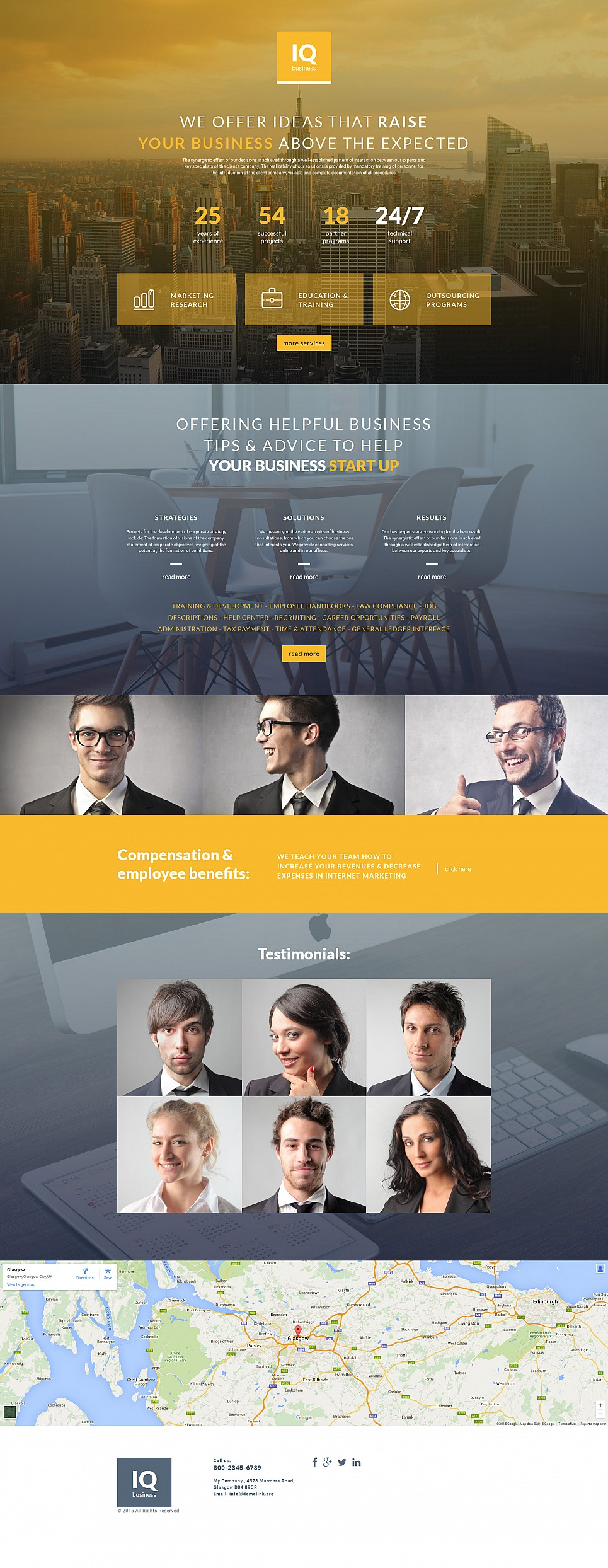 Marketing company web design
