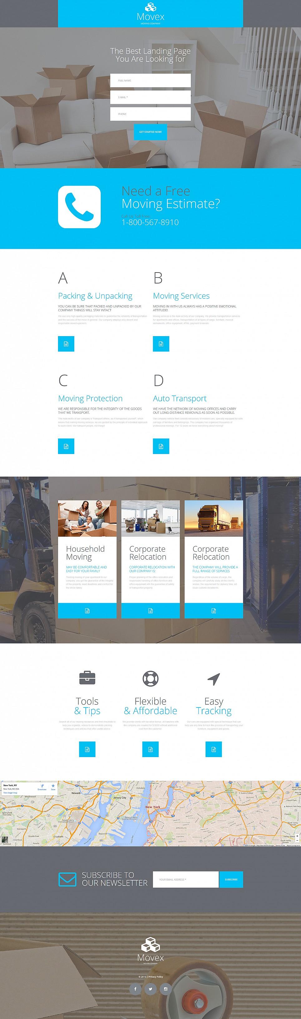 Шаблон для сайта компании по грузоперевозкам - image