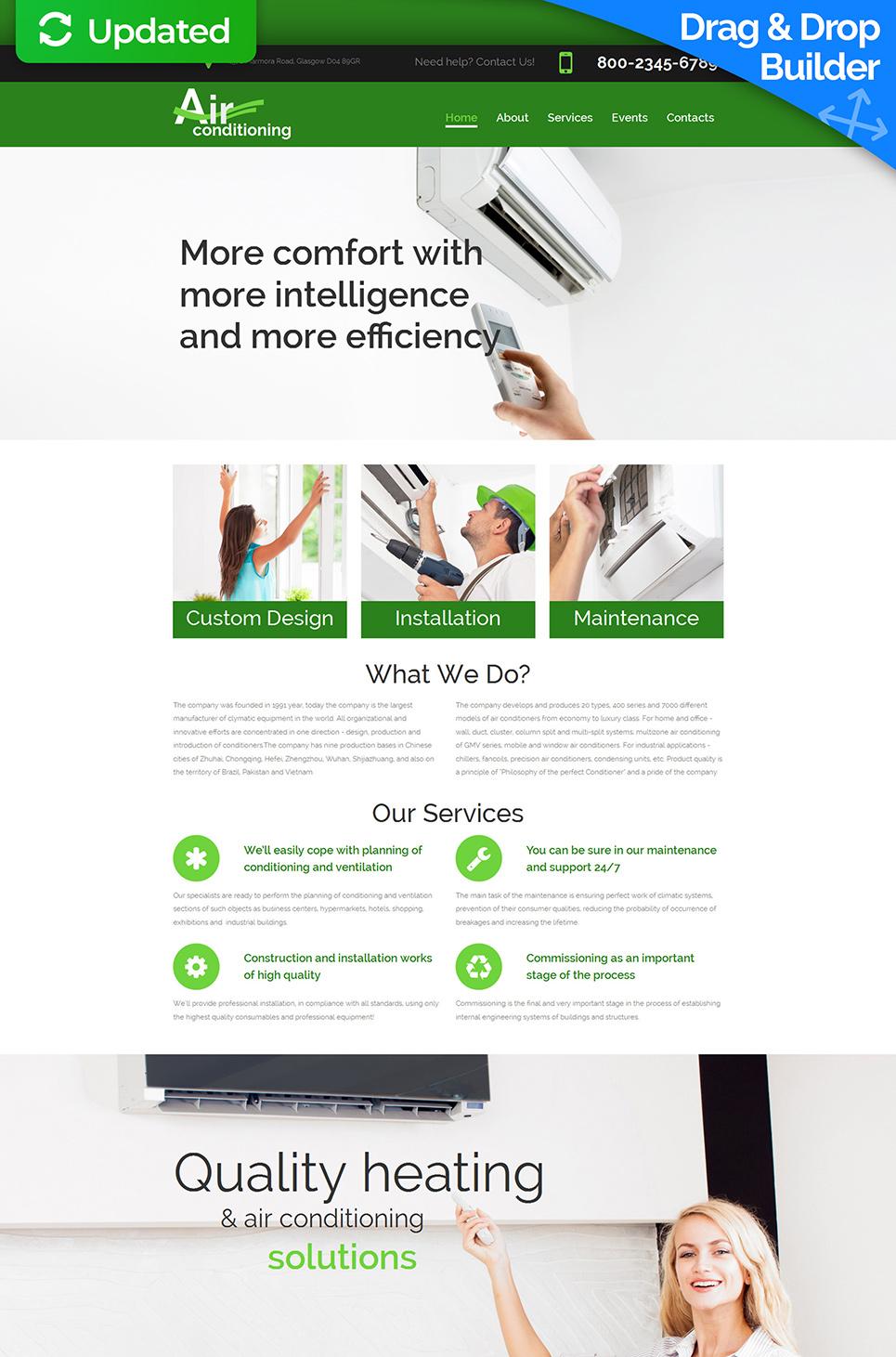 Шаблон для сайта компании по установке кондиционеров - image