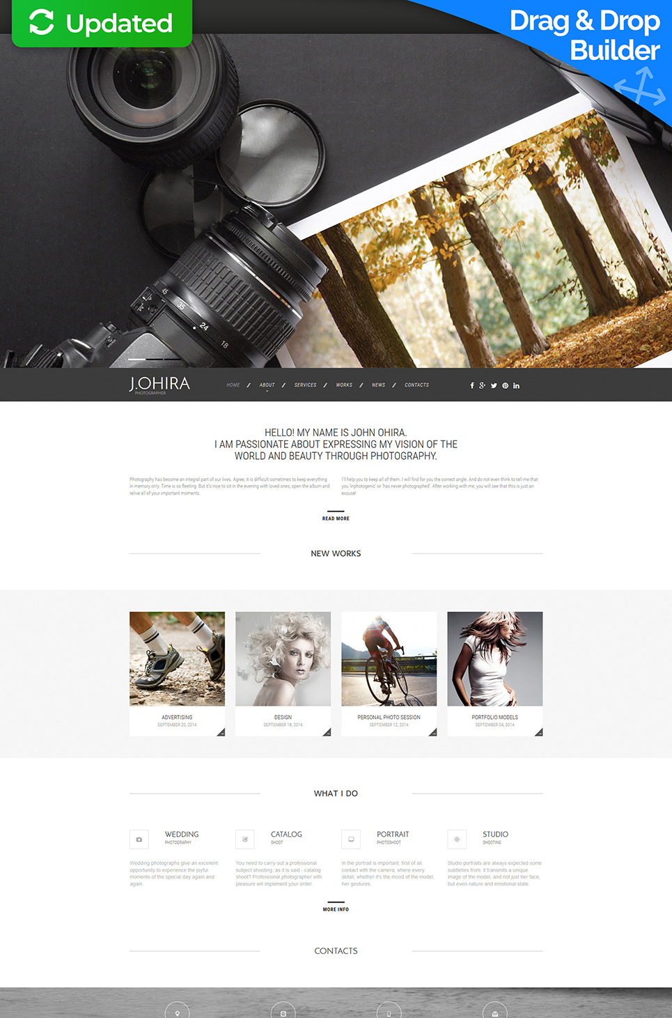 Personal site for photographer