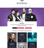 55566 Music Website Templates