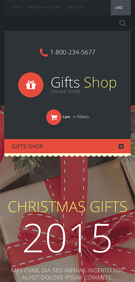Gifts Store Responsive Shopify Theme #55607