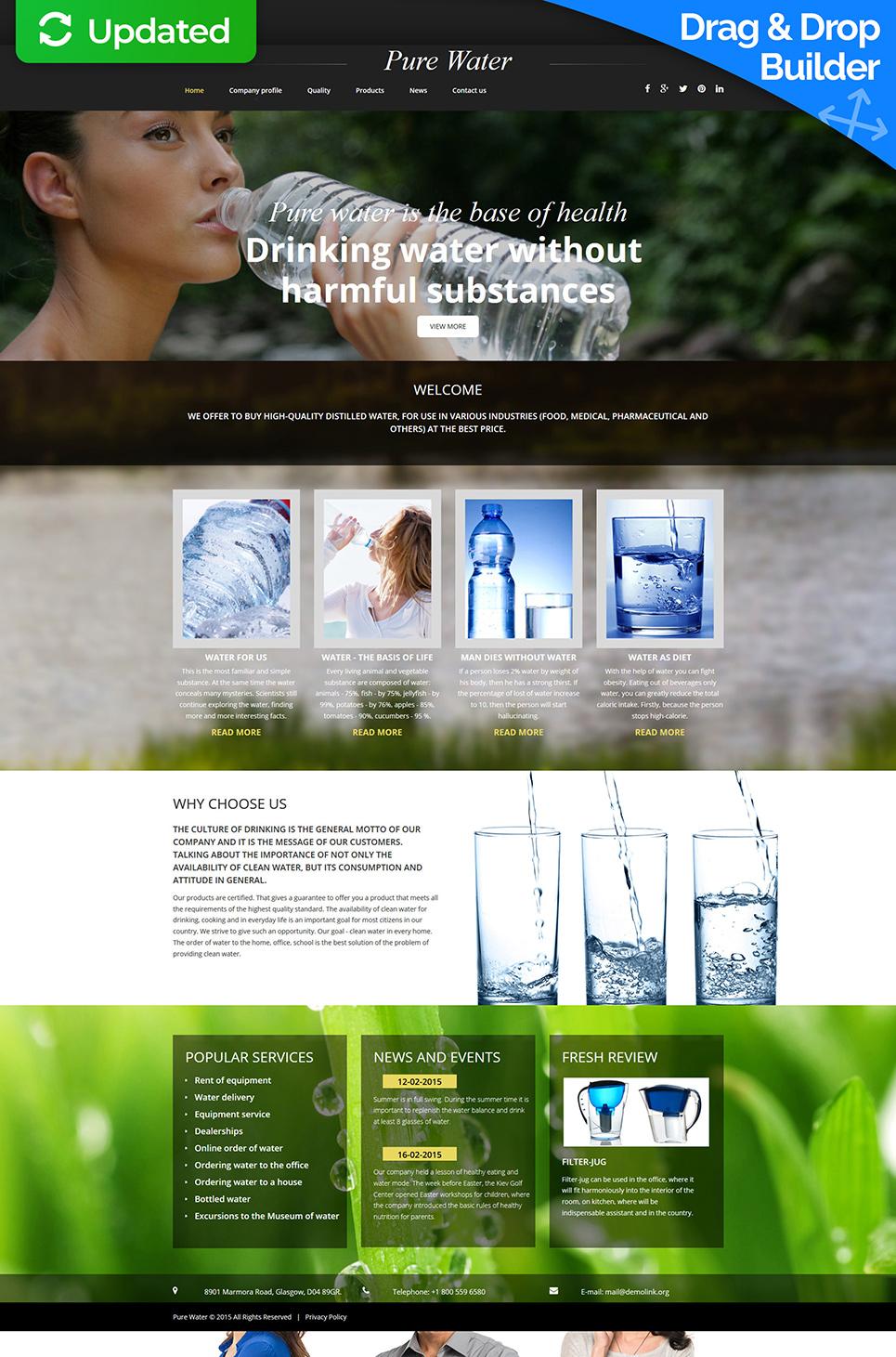 Homepage-Vorlage für Wassermarken