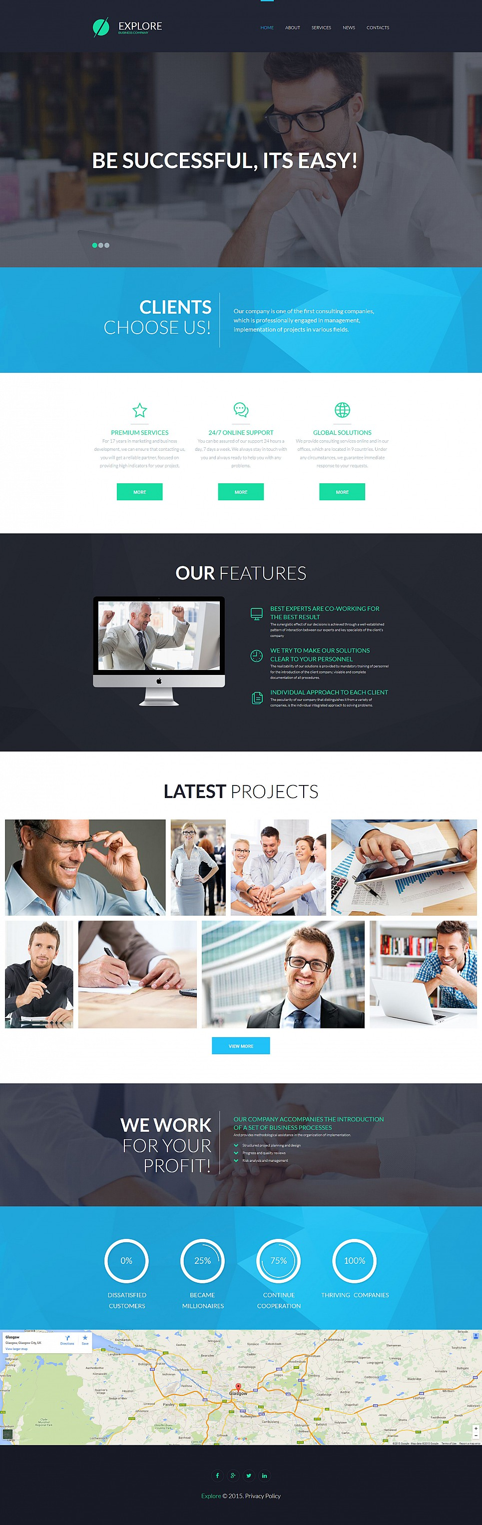 Advisory site for businessmen