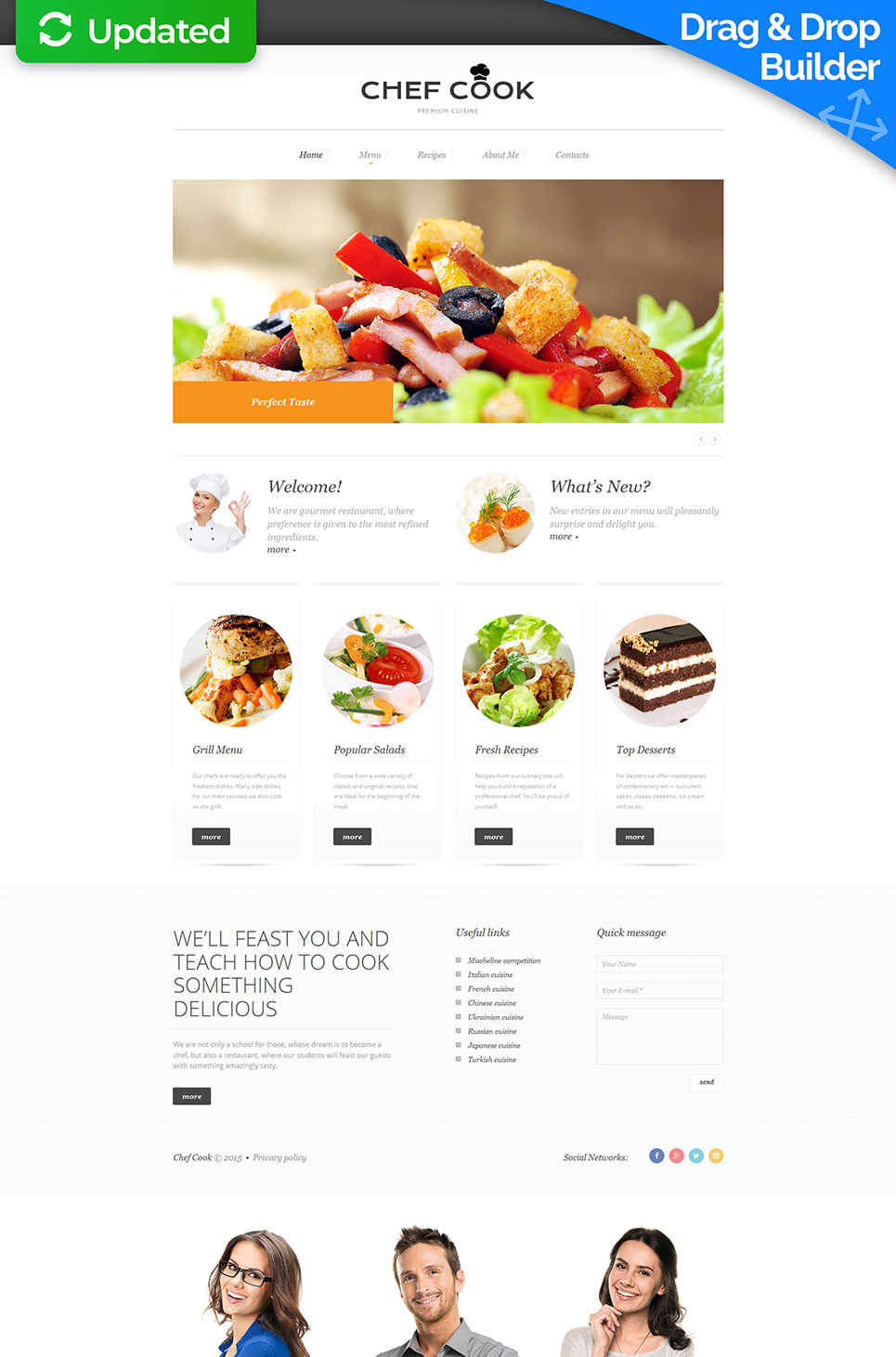 Clean web template for cafe