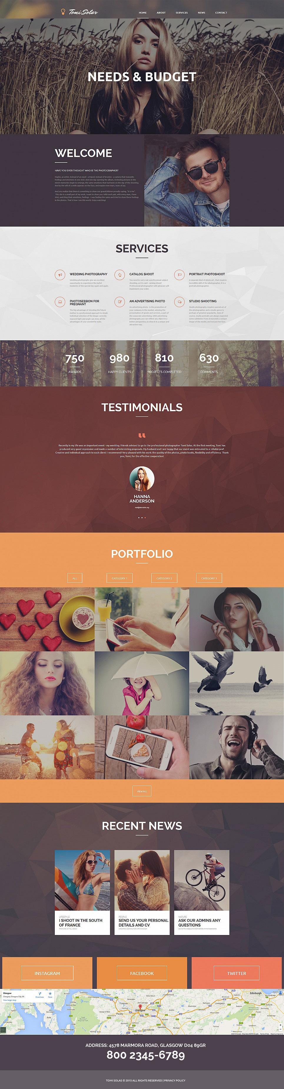 Шаблон для сайта-визитки фешн-фотографа - image