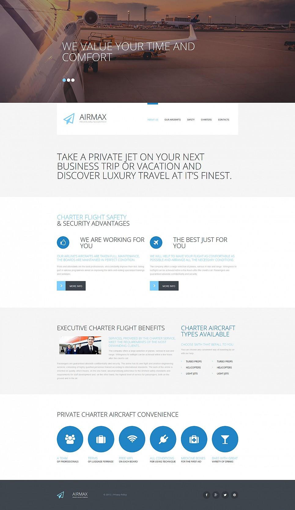 Сайт-визитка для частной авиакомпании - image
