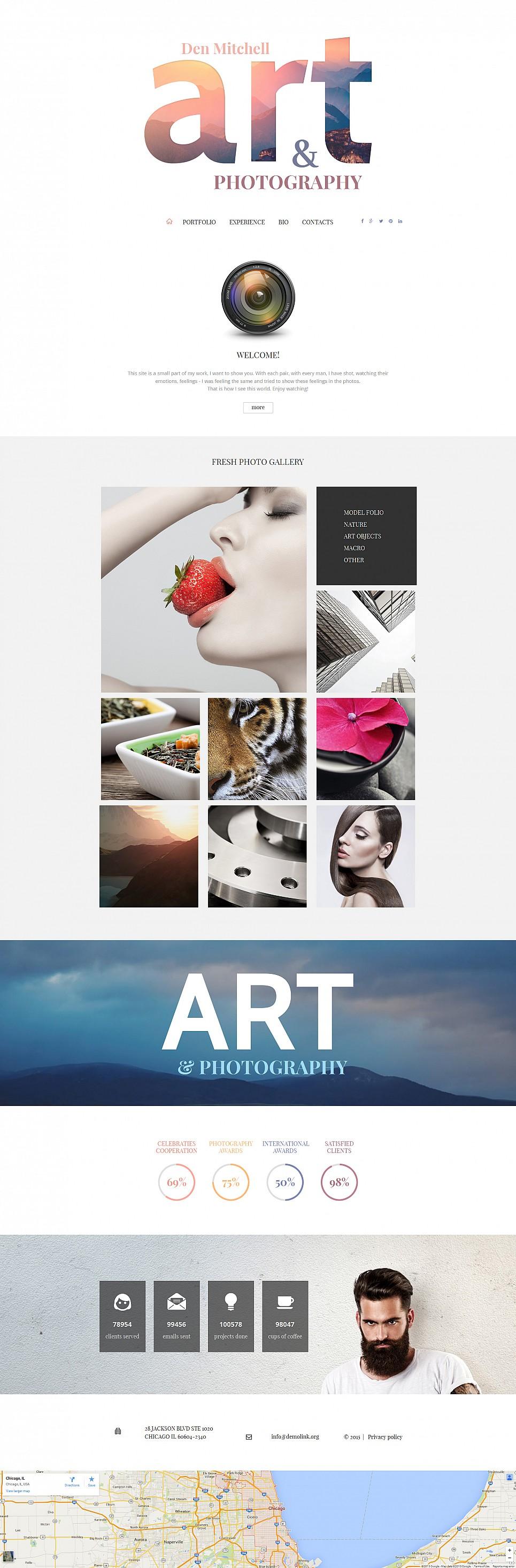 Diseño de sitio web de un álbum de fotos - image