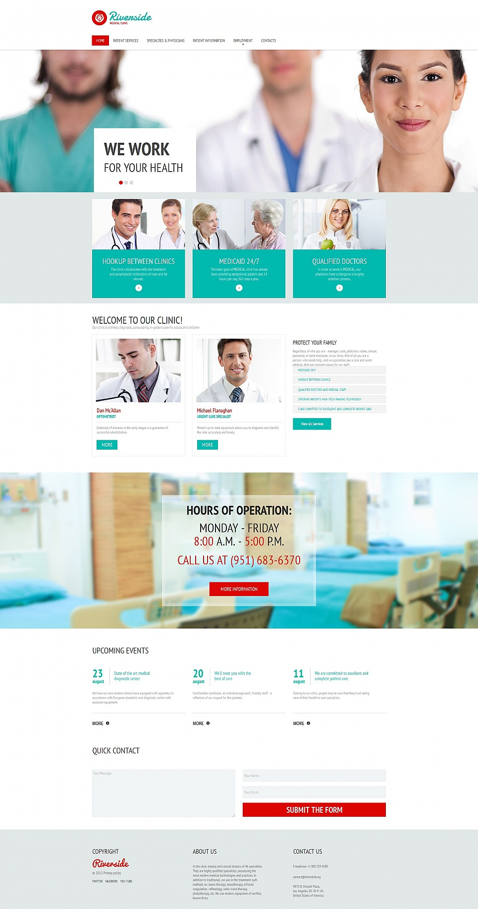 Site design for doctors