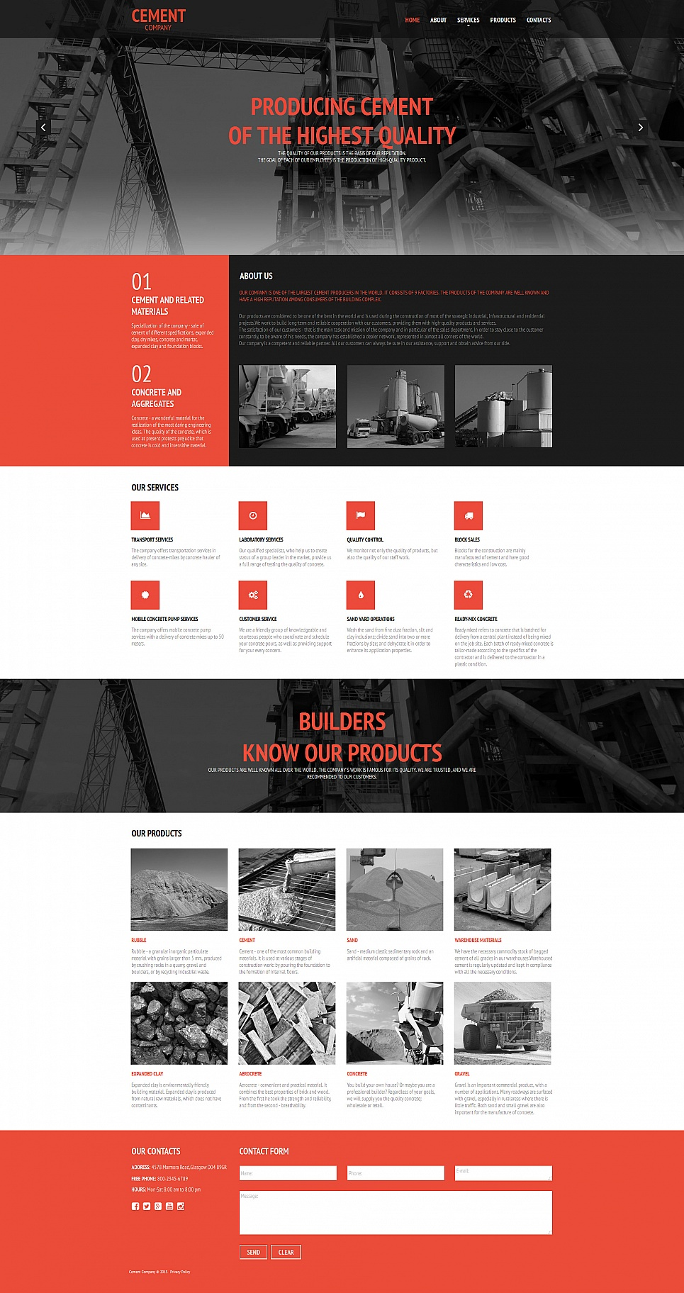 Black and red site for manufacturers