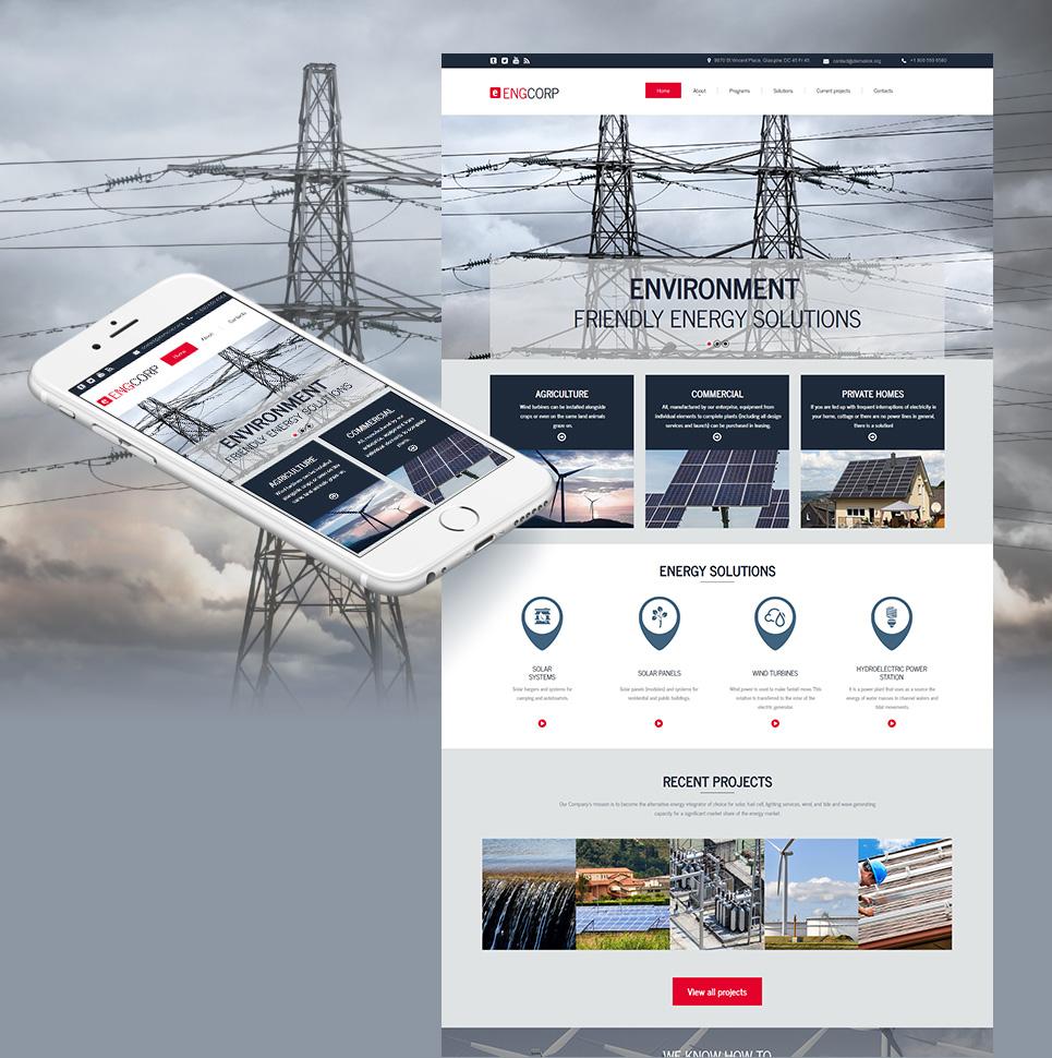 MotoCMS HTML Plantilla #55659 de categoría Industria - image