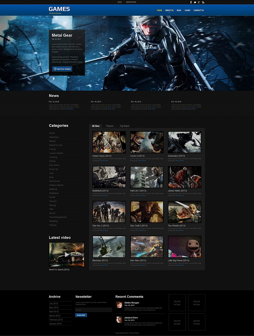 Games MotoCMS HTML Template #55660 - image