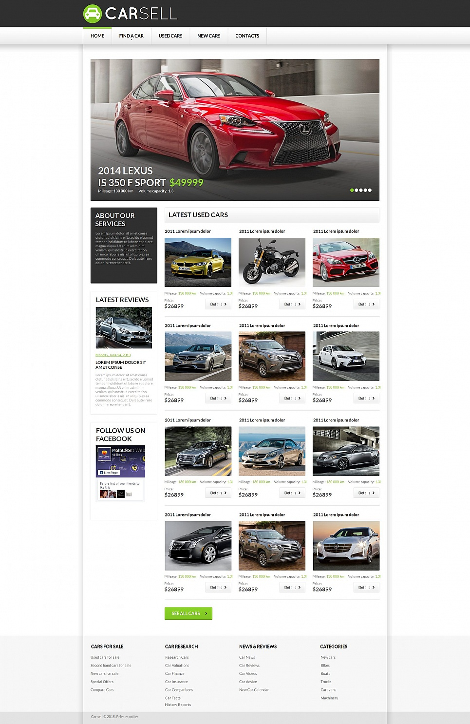 Cars MotoCMS HTML Template #55662 - image