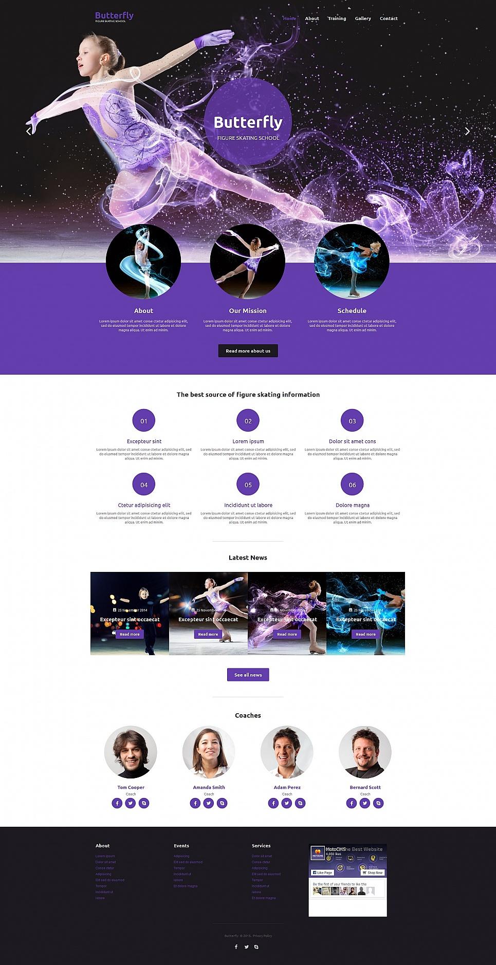 MotoCMS HTML Шаблон #55667 из категории Спорт - image
