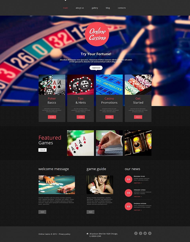 Online Casino MotoCMS HTML Template #55668 - image