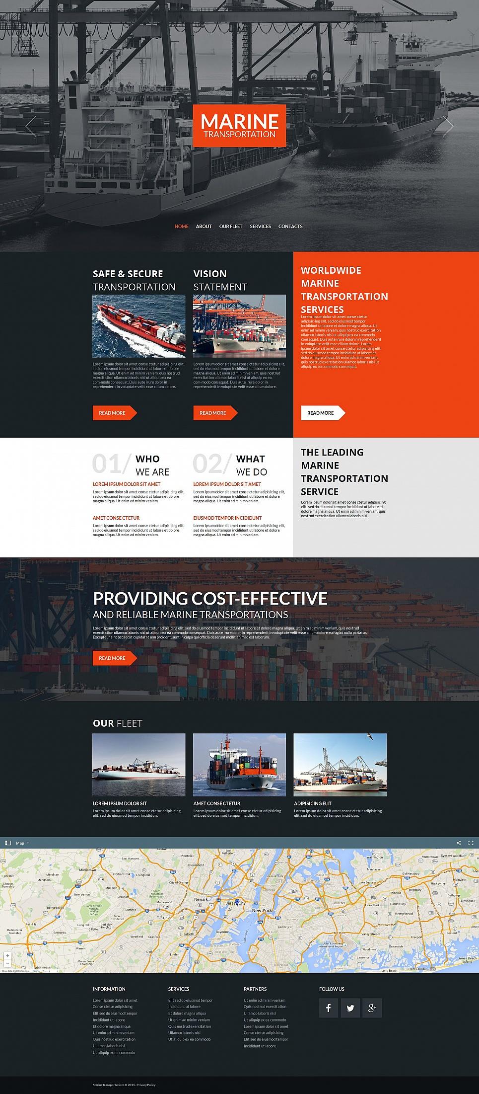 Transportation MotoCMS HTML Template #55669 - image