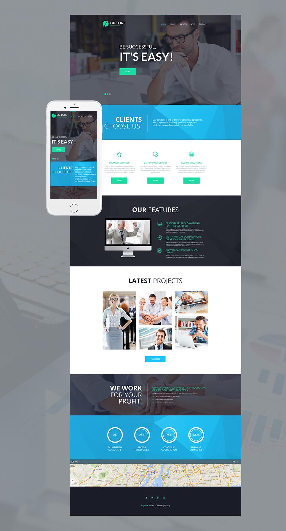 MotoCMS HTML Szablon #55675 z kategorii Biznes - image