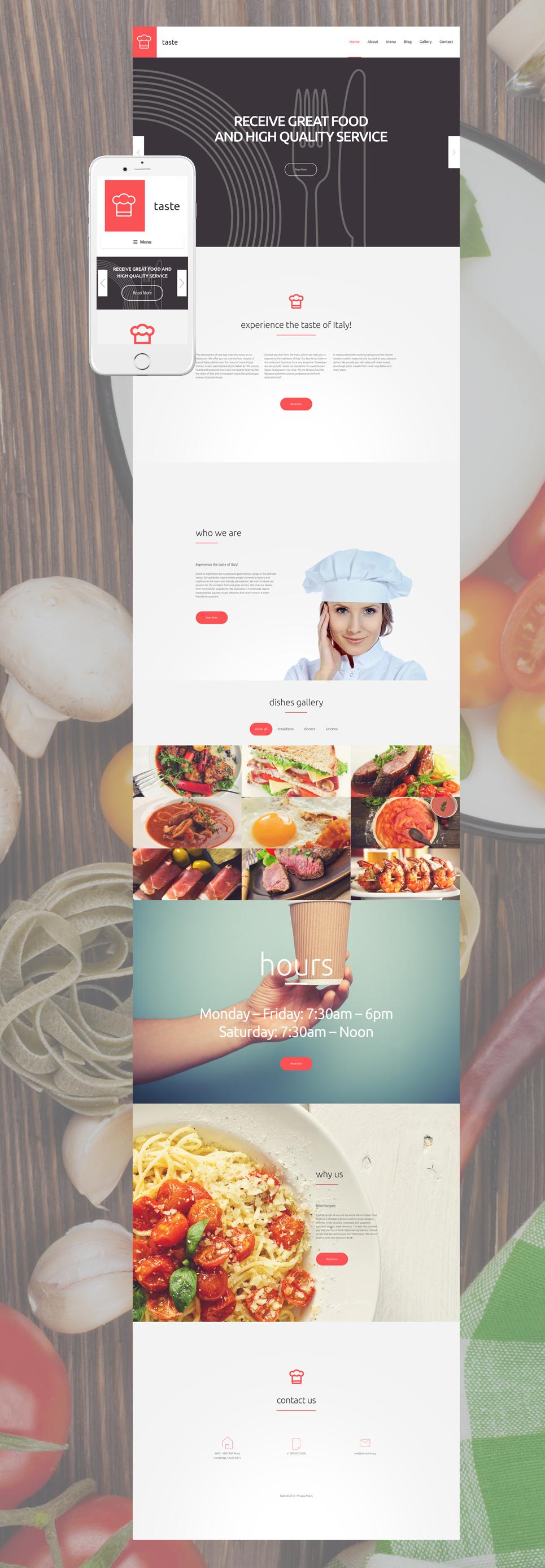 Taste - Best Premium Responsive Cafe & Restaurant WordPress Theme