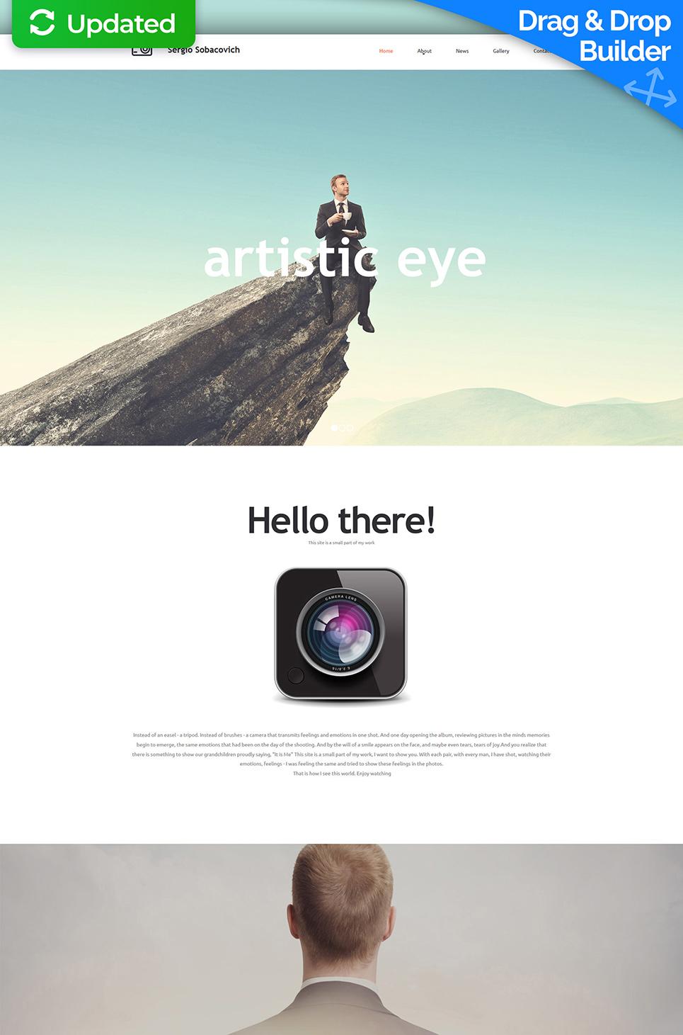 Sitio web con paralaje de fotografía - image