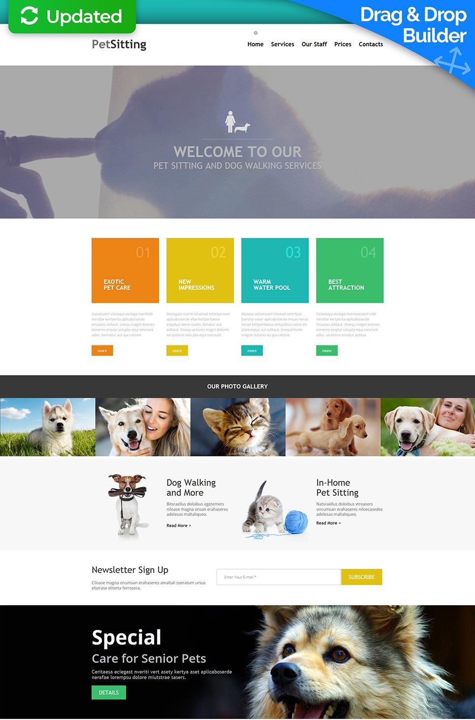 Diseño de sitio web para cuidadores de perros - image