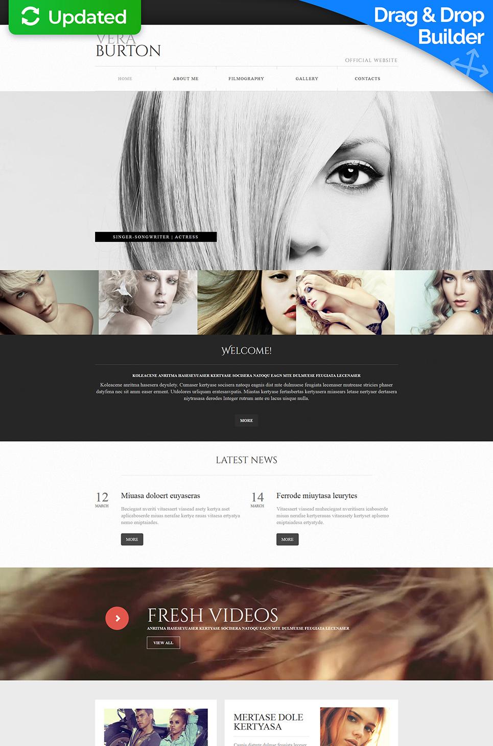 Plantilla de sitio web adaptable para los músicos - image