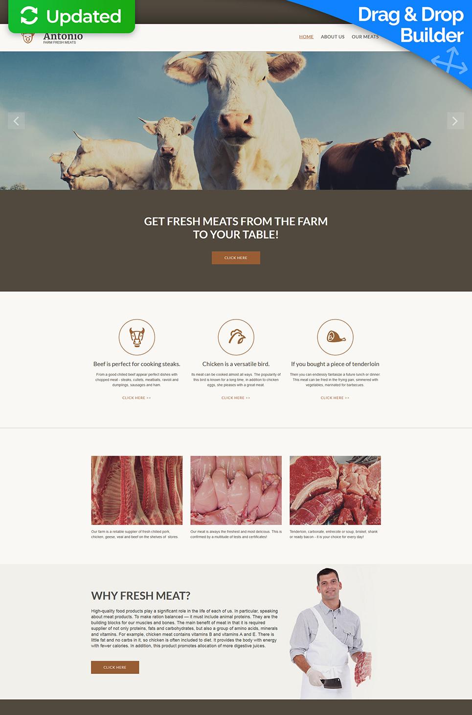 Diseño web para la venta de carnes - image