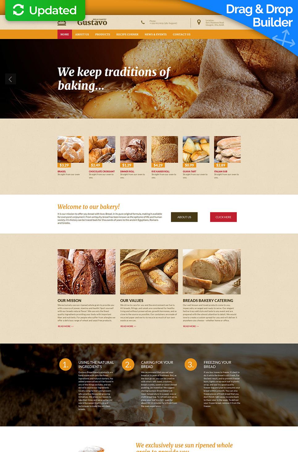 Sitio web adaptable para los panaderos - image