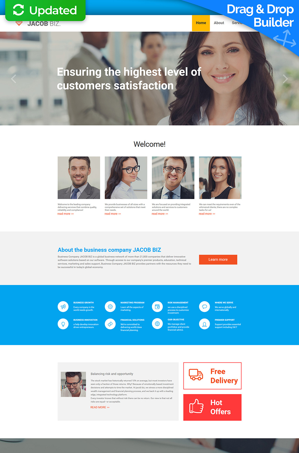 Responsive business company web theme