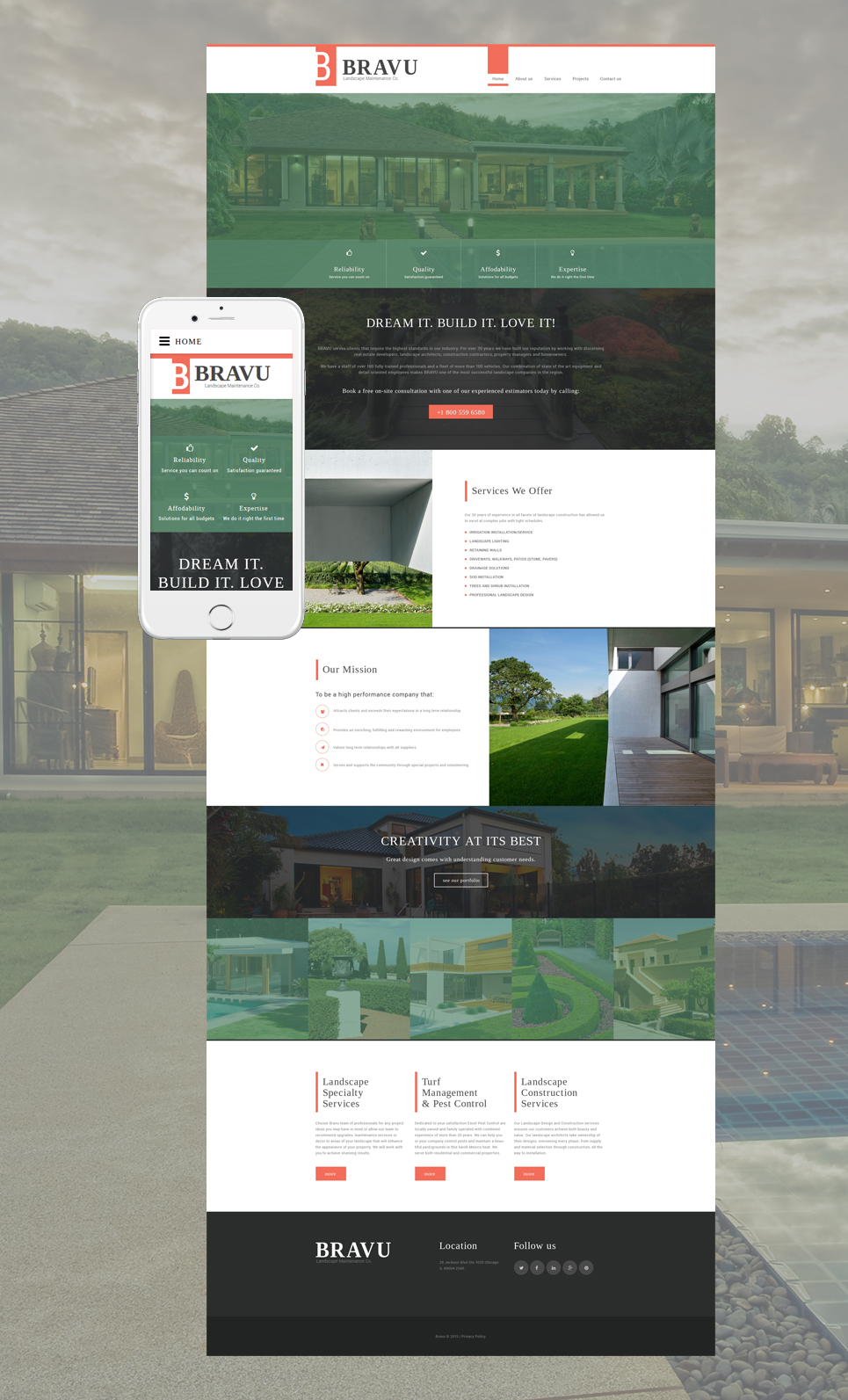 Template 56021 ensegna themes for Exterior design website templates