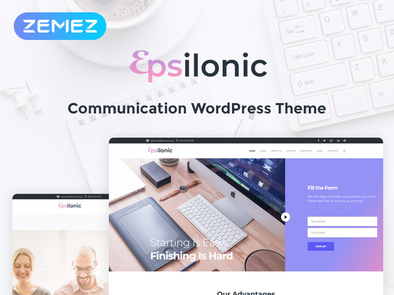 Communication WordPress Theme