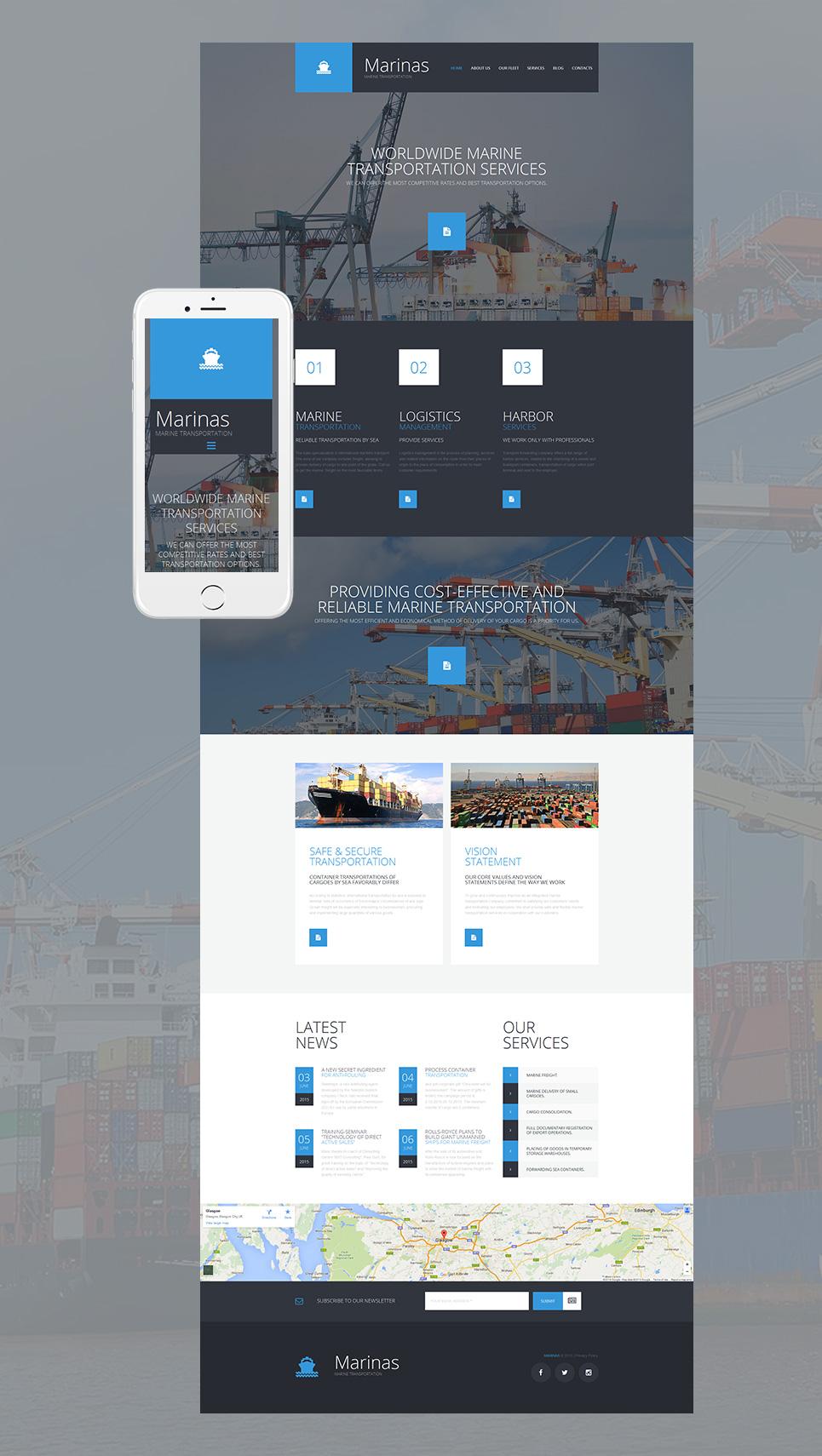 Diseño de sitio web de una compañía de envios - image