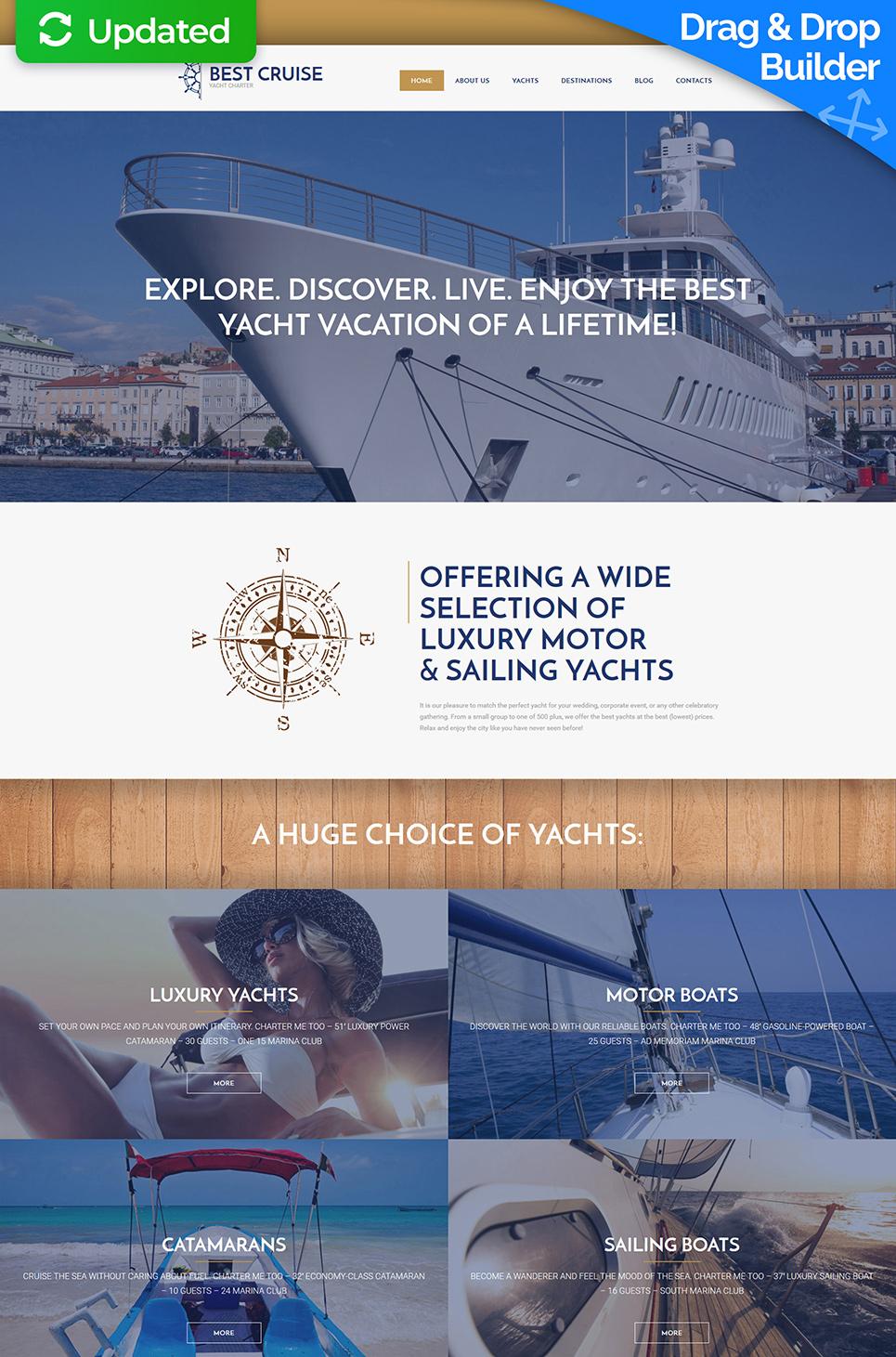 Animierte Website für Yachtservice