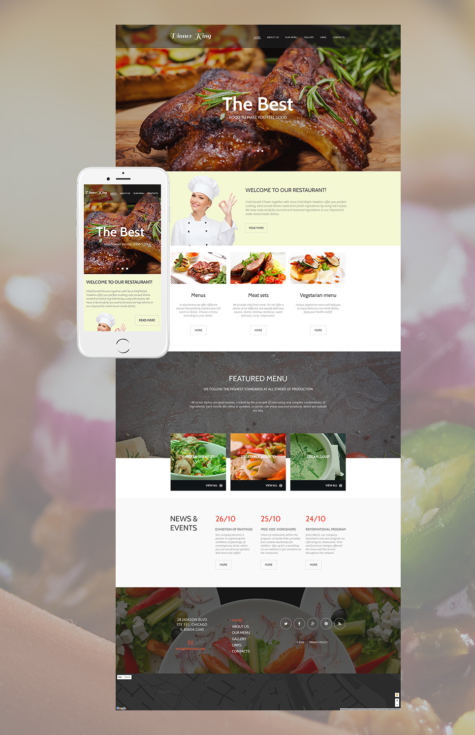 MotoCMS HTML Vorlage #56080 aus der Kategorie Cafe & Restaurant - image
