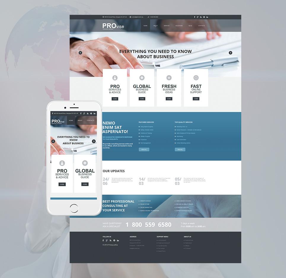Innovative business site theme