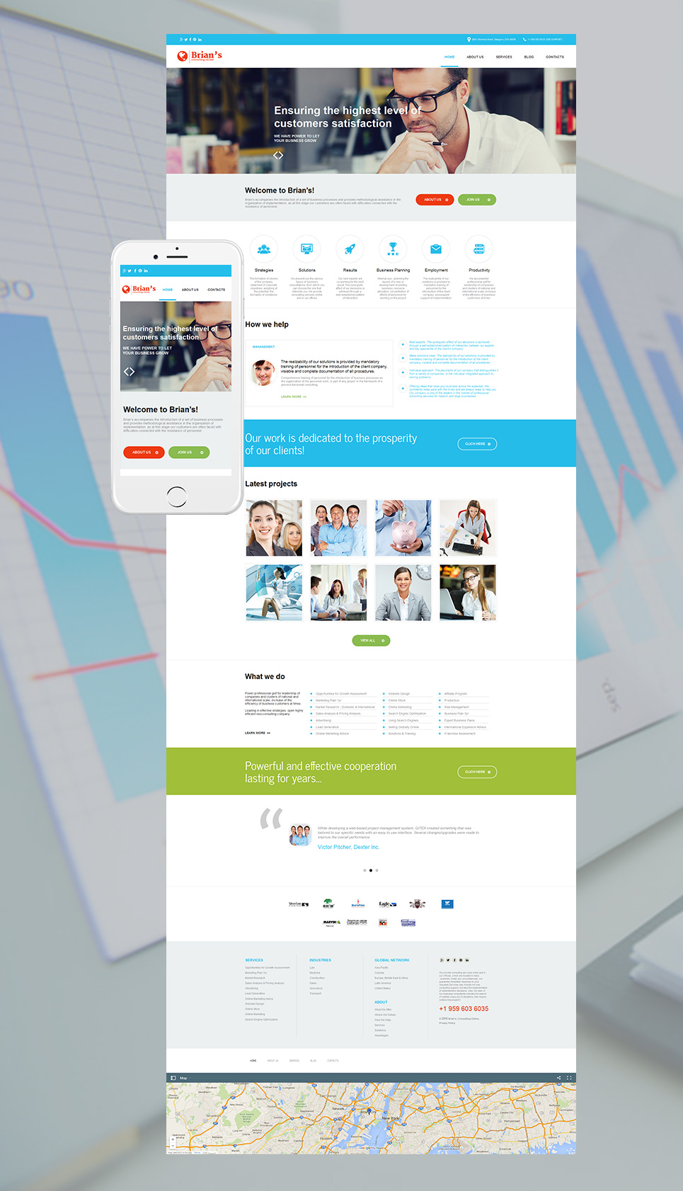 Site template for businessmen
