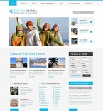 56113 Travel, Full Site, CSS, Wide Templates PSD Templates